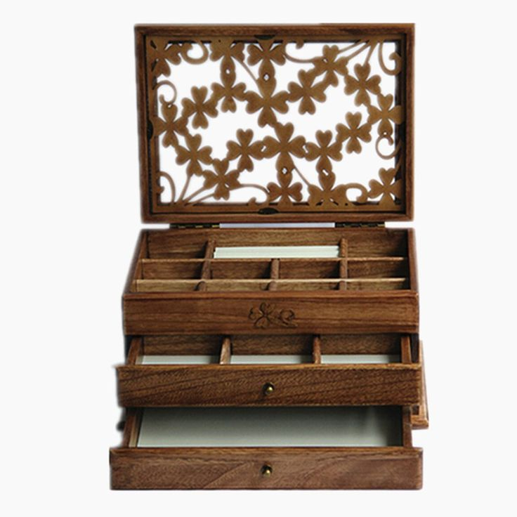 j roland dreischicht carvings hohl hart holz schmuckkasten schmuck box beauty case schmuckkoffer. Black Bedroom Furniture Sets. Home Design Ideas
