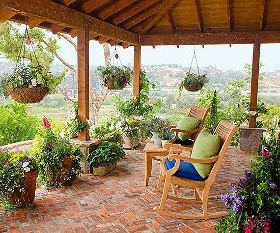 M s de 25 ideas incre bles sobre porches traseros peque os for Patios pequenos rusticos