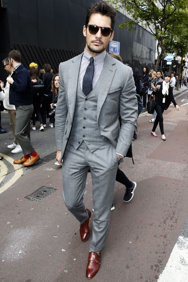 51 best images about Men's Essentials: The Gray Notch Lapel Suit ...