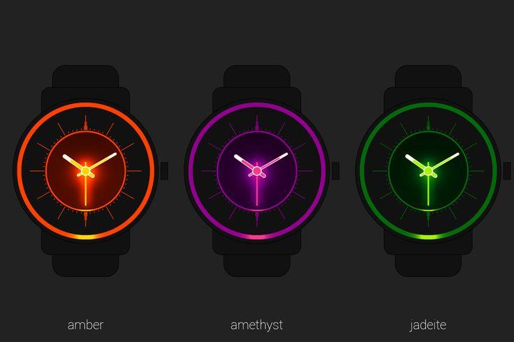 #amber #amethyst #jadeite #gemstones #minerals #light #glow #illumination #analog #watchface #smartwatch #wearable #androidwear #lggwatchr #moto360 #design #apparel