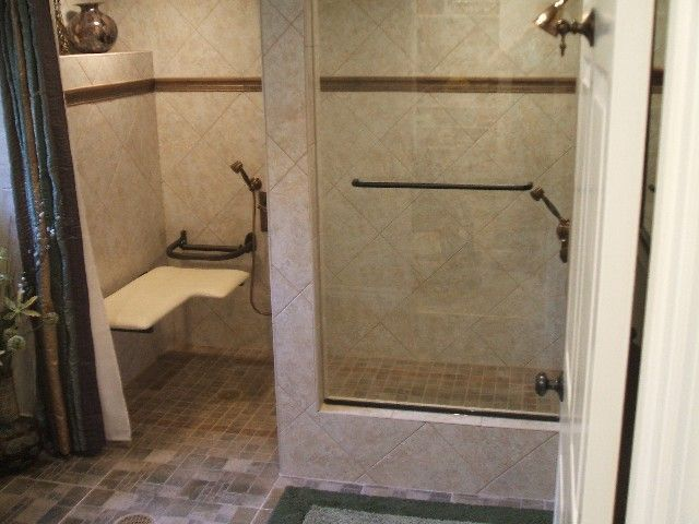 Handicapped Bathroom Ideas | Barrier Free Handicap Bathrooms From Aardvark  Adaptive Modifications I Like This Seat