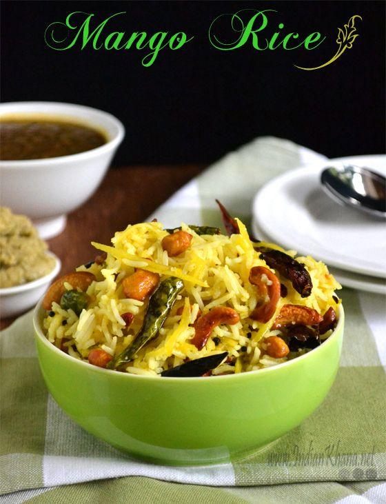 Mango Rice, Tamil recipe - Gluten Free, Vegan