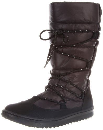 """Puma Women's Snow Nylon Boots Puma. $39.99. synthetic. Shaft measures approximately 11"""" from arch. Boot opening measures approximately 14"""" around. Rubber sole. Heel measures approximately 1"""""""