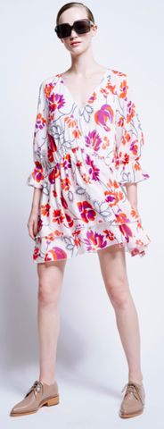 Karen Walker | Transition Rouched Dress in Penrose Floral Muslin