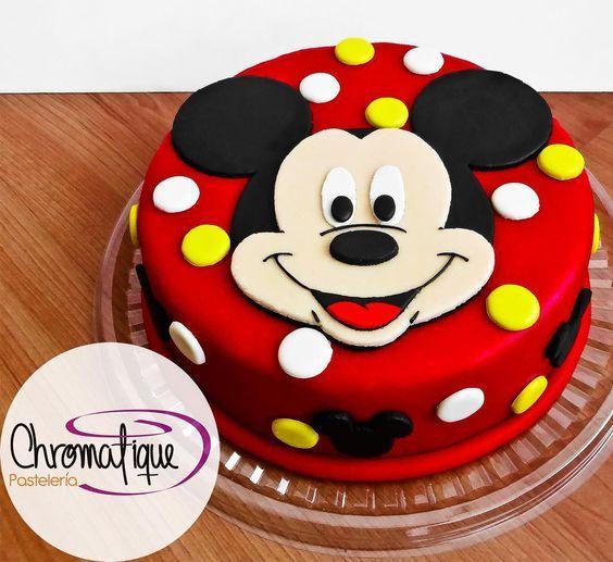 Mickey Mouse cake (Torta de Mickey Mouse) https://www.facebook.com/ChromatiquePasteleria