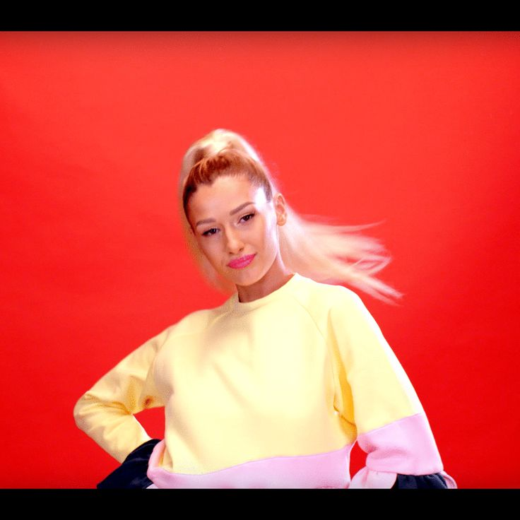 Pop singer Alina Eremia launched her new single featuring our Hard Candy Sweatshirt