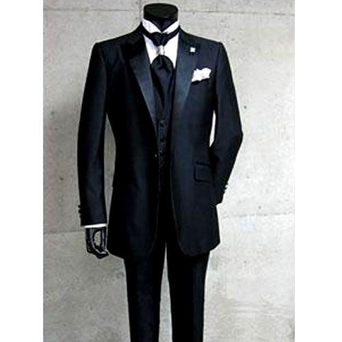 Custom Mens Black One Button Slim Fit Italian Dress Suits for Wedding SKU-123087