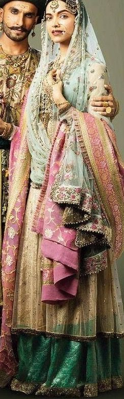 Deepika Padukone Bajirao Mastani - Indian fabric is beautiful & sari fabrics can be used for more than clothing :)