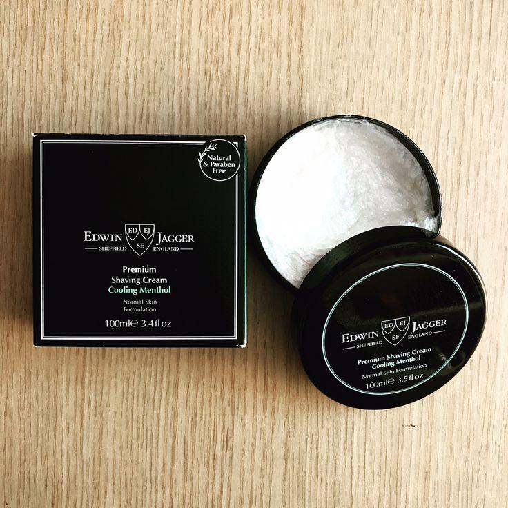 Premium shaving cream with cooling menthol. #edwinjagger #shavingcream #shavingtime #shavingculture #shaving