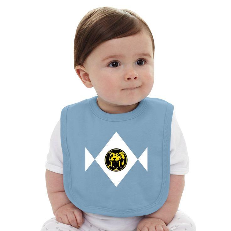 Mighty Morphin Power Rangers Yellow Ranger 2 Baby Bib