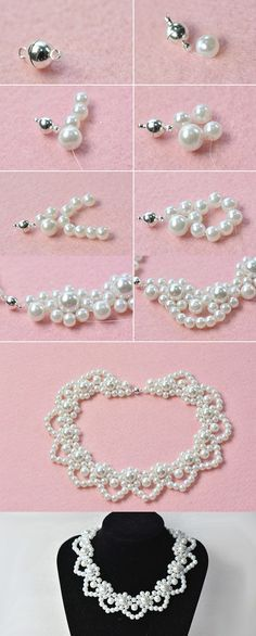 white pearl necklace, LC.Pandahall.com will share us the making details soon. #pandahall
