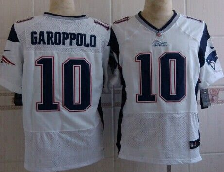 ... 2017 Super Bowl LI Patch Stitched NFL Nike Nike New England Patriots 10  Jimmy Garoppolo White Elite Jersey ... 123ed4a9e