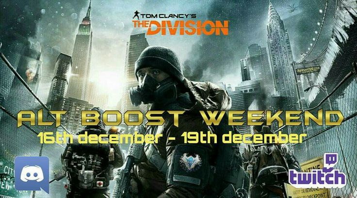 The division Boost Weekend