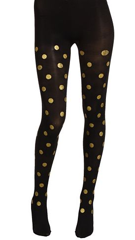 Gold dot tights - cute for the holidays