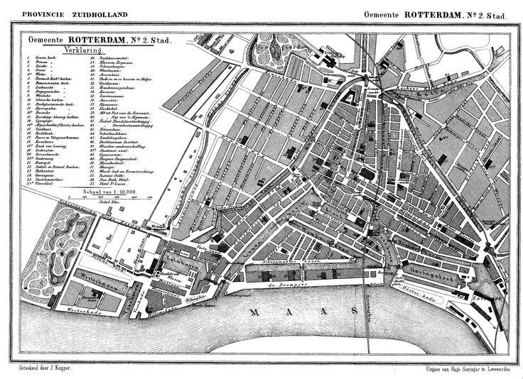 Kaart van Rotterdam 1865 (map)