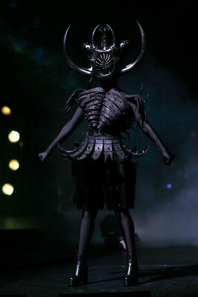 'Cambrian Regeneration' by Ran Xu of China is modelled in the Weta Workshop Science Fiction Section during the World of WearableArt Opening Night 2017 at TSB Bank Arena on September 21, 2017 in Wellington, New Zealand. - 68 of 90