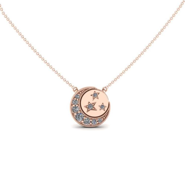 ICONERY   Kim France Fine Jewelry inspired by Peter Max   Girls of a Certain Age   Moon and Stars Disc Necklace