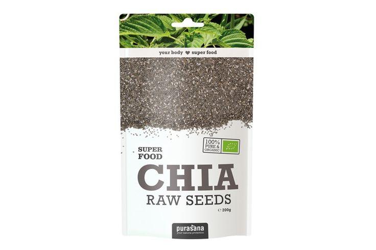 Purasana - nasiona chia - bogate źródło kwasów omega 3, witamin, składników mineralnych i błonnika. Chia wpływa pozytywnie na prace naszego serca i mózgu, dodaje energii, wspomaga trawienie, korzystnie wpływa też na cerę i paznokcie. CHIA SEEDS