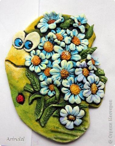 Картина панно рисунок Лепка Мои летние соления  Тесто соленое фото 3