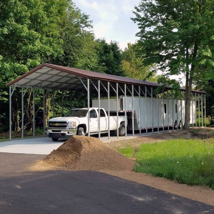 Purchase metal carports and more in a variety of sizes