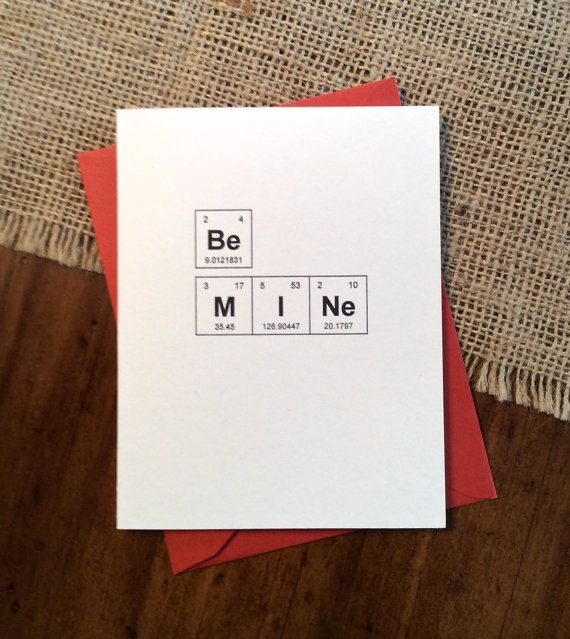 Best 25 Bad Valentines Cards ideas – Chemistry Valentines Day Card