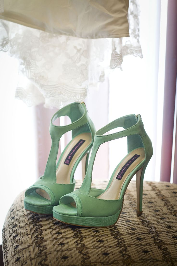 mint wedding shoes / by steve madden // mint and purple wedding