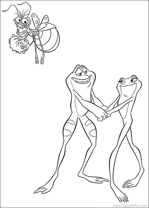 Princess And The Frog Coloring Pages 6