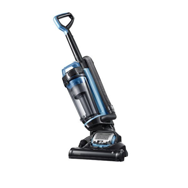 The Black+Decker Airswivel Ultra Light Weight Upright Vacuum Cleaner Lite features 170-degree swivel steering. Unlike traditional vacuums which typically require two separate motors to accommodate swivel functionality, the patented AirSwivel technology only needs one motor, allowing for maximum maneuverability and ease of use. Included is a 2-in-1 crevice tool accessory with brush for vacuuming in narrow and hard to reach places.
