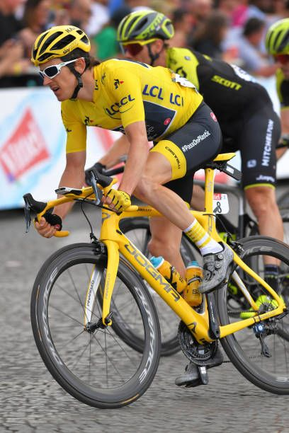 Geraint Thomas of Great Britain and Team Sky Yellow Leader Jersey during  the 105th Tour de France 2018 Stage 21 a 116km stage from Houilles to Paris. ca85d2331