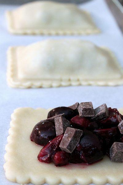 Chocolate Cherry Hand Pies... mmmhh those look goooood!
