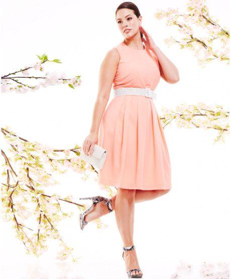 pink plus size dresses 14