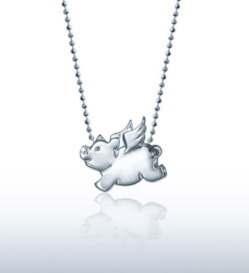 Alex Woo Jewelry | Little Signs Flying Pig in Sterling Silver