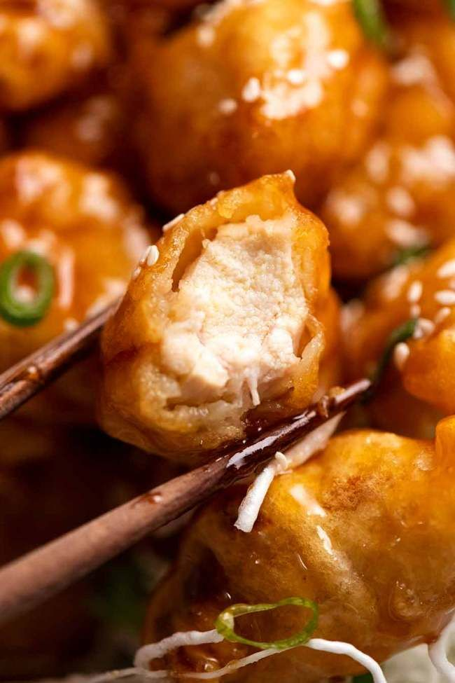 Honey Chicken Stays Crispy For Hours Recipe In 2020 Honey Chicken Crispy Honey Chicken Honey Sauce For Chicken