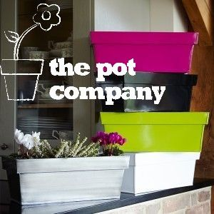 Zinc Indoor Pot Planter Collection Brightly Coloured Window Boxes White  Silver Green Black Pink