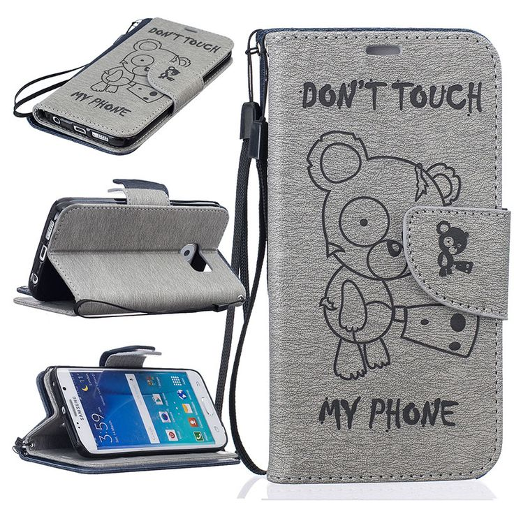 Bear PU Leather Mobile Phone Cases For Samsung Galaxy S7 G930 G9300 Covers New Arrivals Wholesale Cell Phone Bags Housings