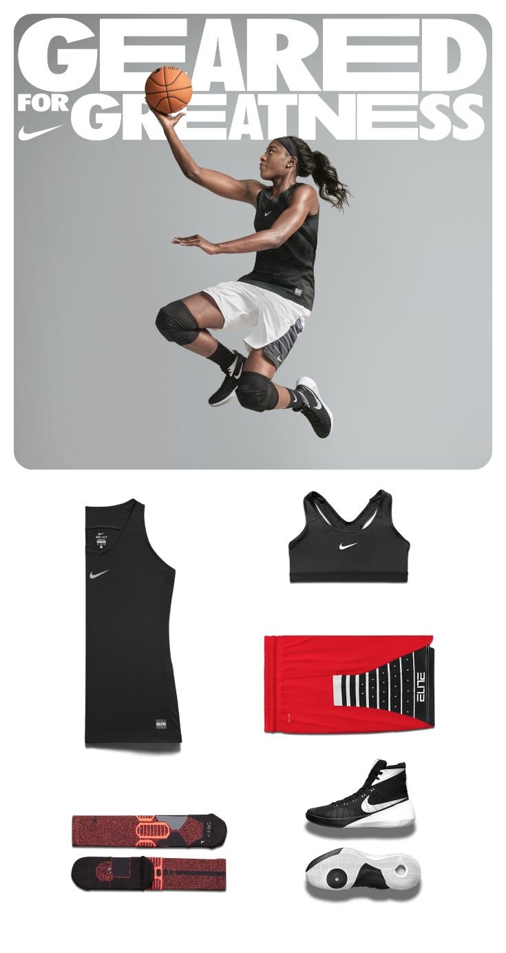 This Nike women's-specific basketball line is all about better-fitting gear for greater comfort on court. Check it out.