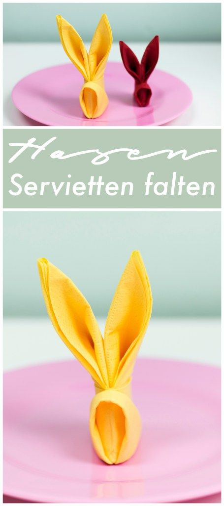 DIY Hasen Servietten falten