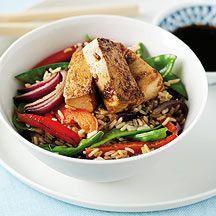 Tofu, groenten en rijst uit de wok 5pt
