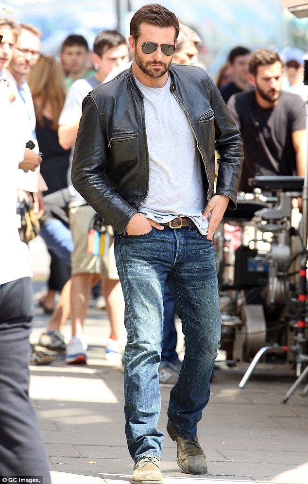 Bradley Cooper looks his usual handsome and macho self on ...