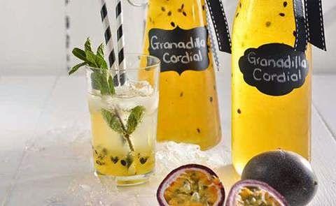 Granadilla Cordial     Granadilla Cordial Makes about 750 ml  Takes 15 min Ingredients:... 750ml castor sugar 375ml water 3 x 110g tins gran...