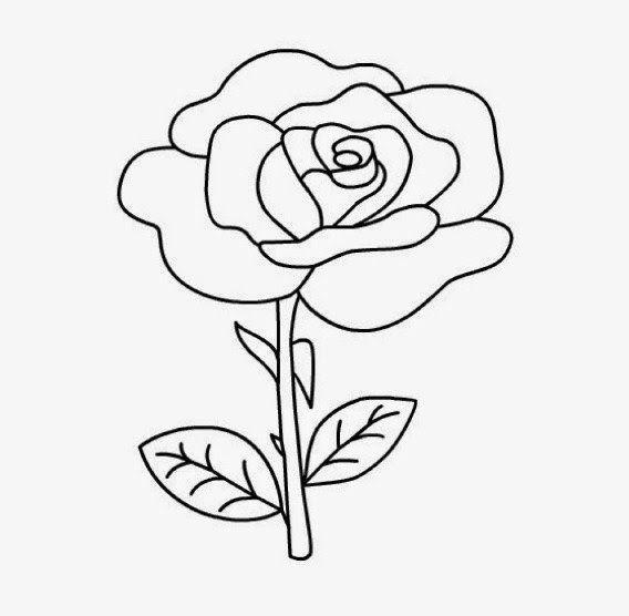 Coolest 15 Easy Rose Pictures But Paling Keren 15 Gambar Bunga Mawar Yang Mudah Dibuat Namun Sebenarnya Di Sketsa Sketsa Bunga Halaman Mewarnai Bunga
