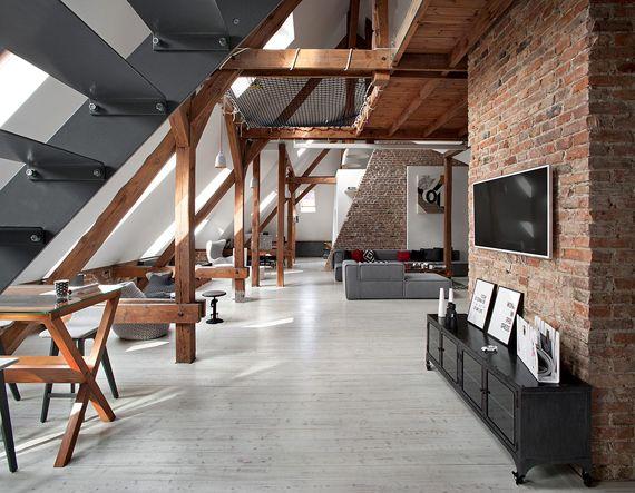 loft estilo minimalista con toque industrial