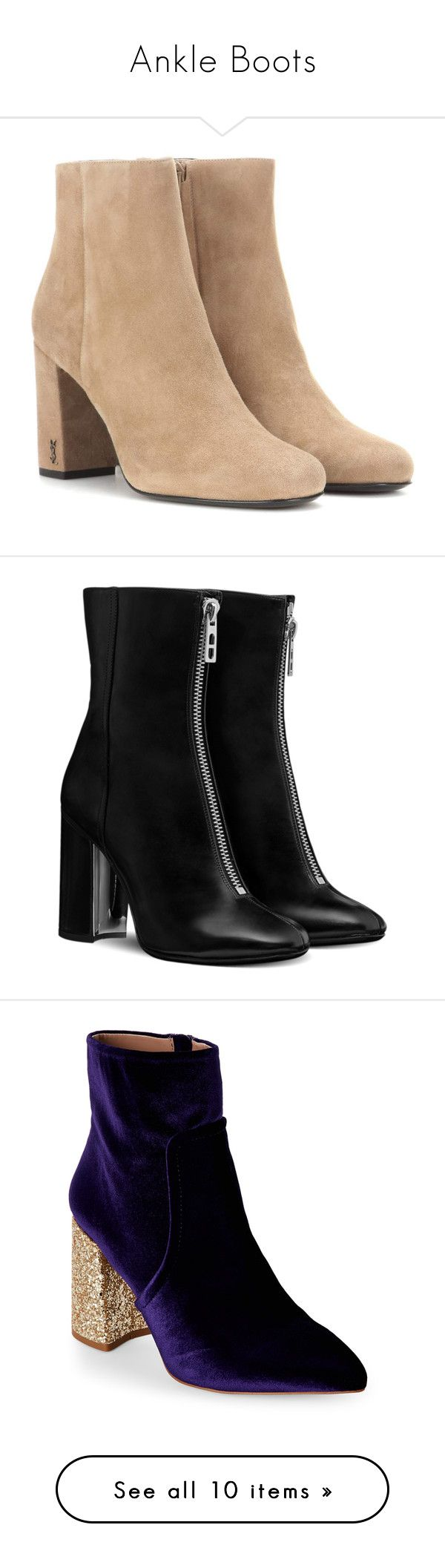 """""""Ankle Boots"""" by galacticgirl ❤ liked on Polyvore featuring shoes, boots, ankle booties, botas, brown, brown suede boots, brown booties, ankle boots, short suede boots and short boots"""