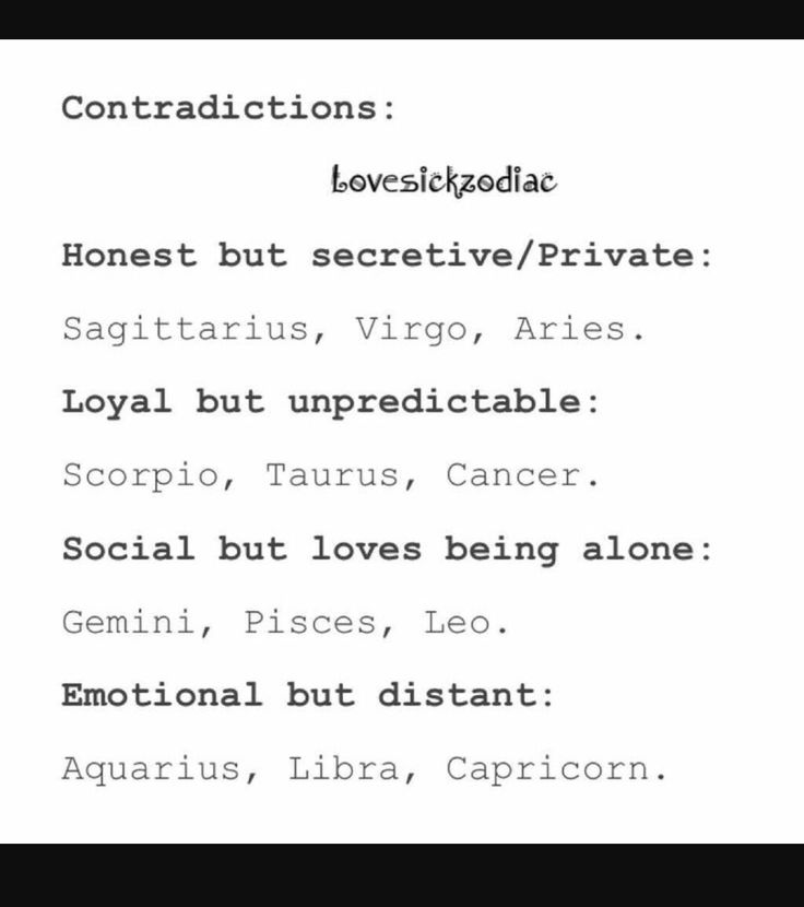 The Pisces one is so Fucking accurate I can't explain it