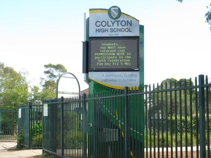 Colton High School #LED #school sign