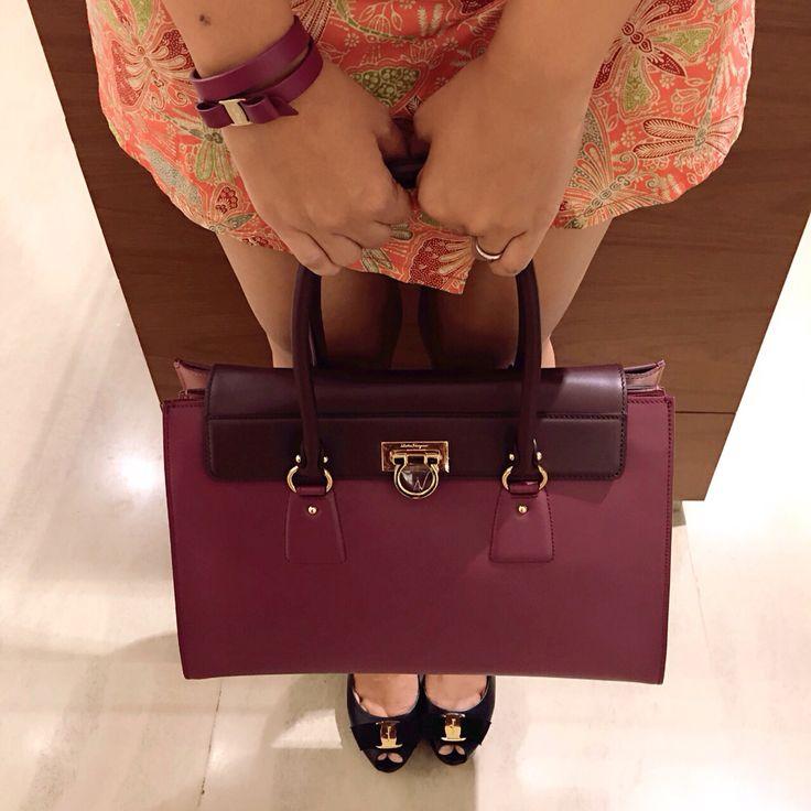 Girls never stop playing dress up  Bag, Bracelet and Heels by Salvatore Ferragamo, TSM GF Floor #tsmlovers #tsmbandung #transstudiomallbandung #transstudiomall