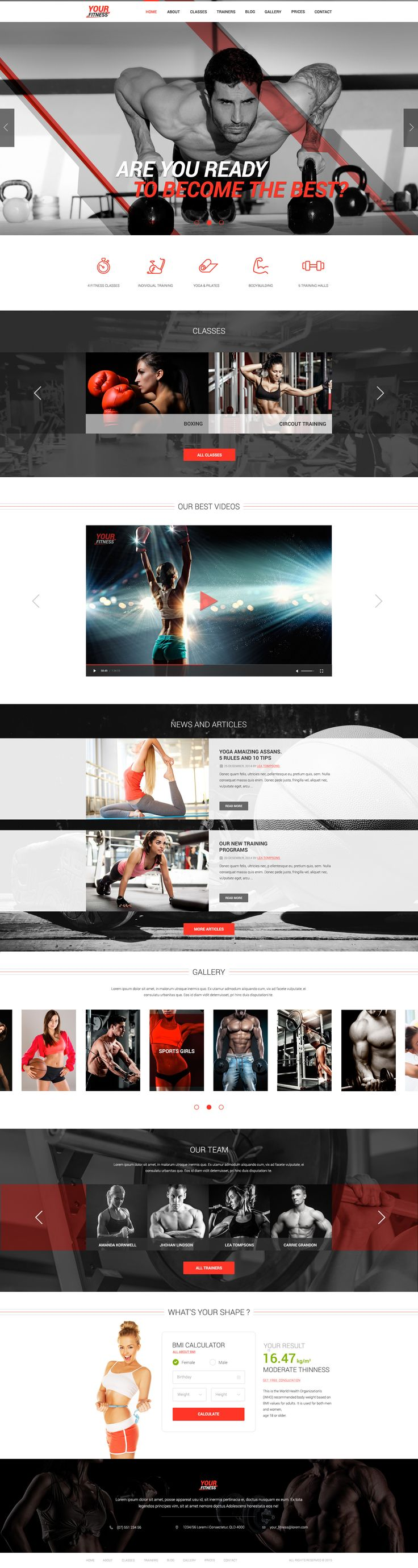 creative, modern and responsive theme designed mainly for Sport Clubs, Health Clubs, Gyms, Fitness Centers, Personal Trainers and other sport and health related clubs and it is suitable for any kind of sport activity websites.