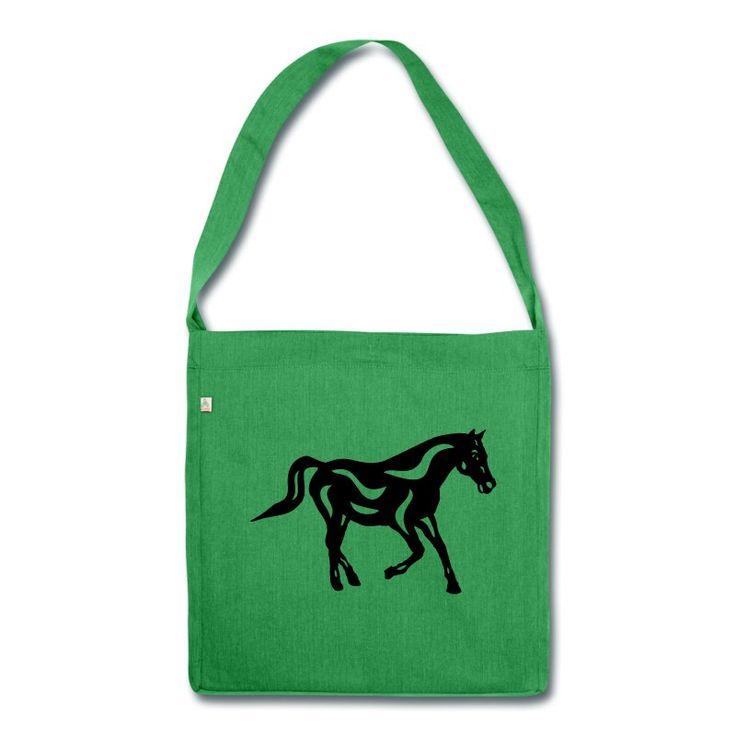 Schultertasche | Abstraktes Pferd Heinrich von Manuel Süess | Mehr: https://shop.spreadshirt.de/PferdeDesigns/schultertasche+abstraktes+pferd+heinrich-A109526563