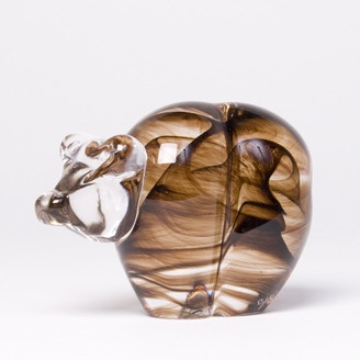 Fine Craft Glass Bear by Susan Gottselig - Canmore, Alberta. Member of the Alberta Craft Council.
