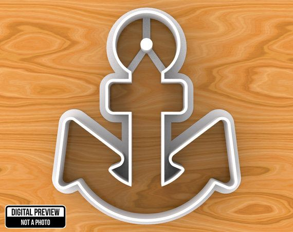 Anchor Cookie Cutter, Selectable sizes